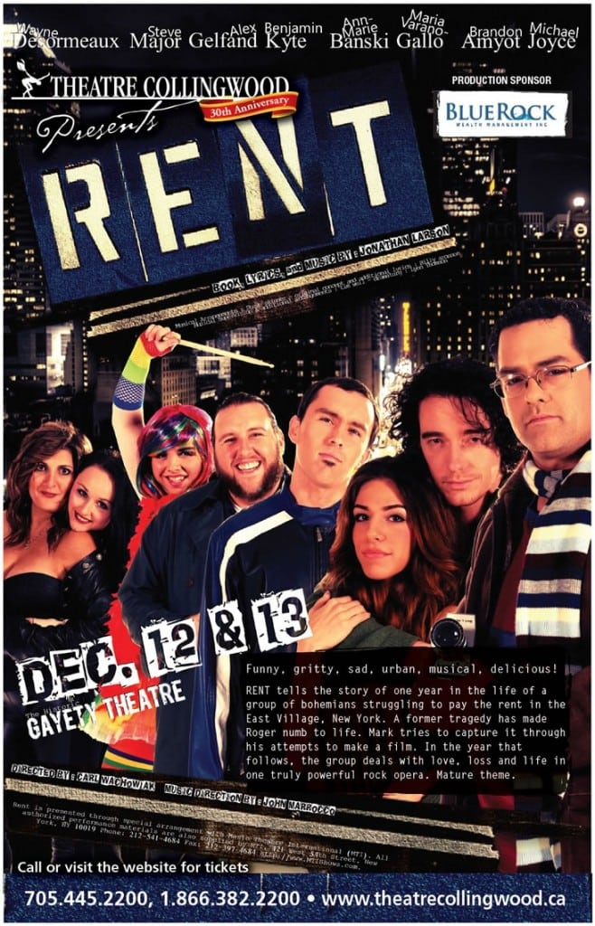 Rent at the Gayety Theatre
